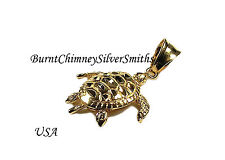 14K Gold Overlay Hawaiian Turtle Honu moveable arms LRG