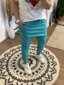 Schöne Baggy Hose mit Taschen in Türkis One Size bis Gr. 42 NEU (R1)