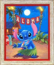 Lilo and Stitch Hula Manny Hernandez LE 195 Framed 20x16 Signed Disney Canvas