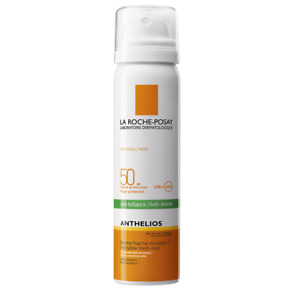 Invisible mattifying effect spray for face SPF 50 Anthelios, 75 ml,free shipping