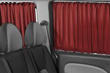 VW T5 & T6 Transporter Caravelle NUR für 3 Fenster BUS GARDINEN VORHÄNGE WEINROT