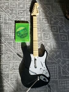 Rockband Fender Stratocaster Wired Guitar Xbox 360 Working Great No Strap 🔥