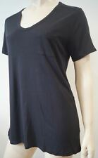 T ALEXANDER WANG Black Round Neck Short Sleeve Jerseywear T-Shirt Tee Top M
