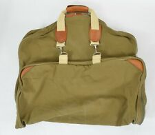 Vintage ABERCROMBIE & FITCH Heritage Canvas Leather GARMENT Travel BAG Luggage