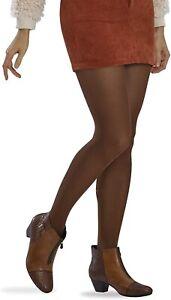 HUE 265247 Women's Opaque Tights Cinnamon Size 1