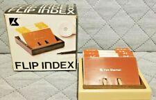 Vintage 1970s Park Sherma Flip Index Card Holder With Address Cards No954 Nos