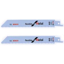 "2x Bosch 2608657550 S922BF Reciprocating Sabre Saw Blades 150mm/6"" Flexible"