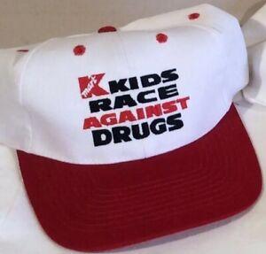 """Vintage Kmart """"Kids Race Against Drugs"""" Indycar/CART Baseball Hat NEW"""