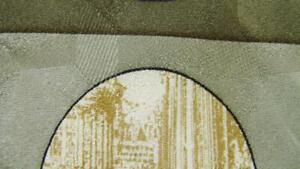 VITALIANO LUISELLI OLIVE GREEN BROWN STRIPE CIRCLES NECKTIE TIE MOC1519C #T36