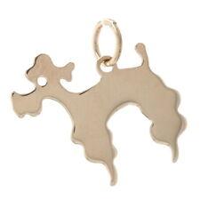 Yellow Gold Poodle Dog Charm - 14k Pet Canine Sock Hop Pendant