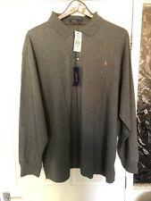 Polo Ralph Lauren Grey Long Sleeve Lightweight Polo 3XB