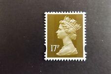 GB QEII Machin Definitive Stamp. SG Y1770 17p Bistre 2B Litho MNH