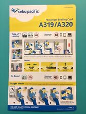 LATEST CEBU PACIFIC AIRLINES SAFETY CARD--AIRBUS 319/320