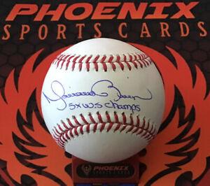 Mariano Rivera Signed Major League Baseball 5x WS Champ Insc MLB + Fanatics