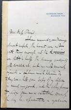 Paul Jacob Naftel, Artist, Guernsey, ALS, SIGNED letter, 1875