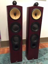 Bowers & Wilkins B&W Nautilus 804 Speaker Near Mint Red Cherry Finished