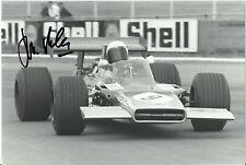 John Miles 1943-2018 Signed F1 original photo 1969 British Grand Prix Lotus 63