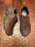 Merrell Womens Jungle Moc Nubuck Slip On Shoe Brown Size 7 M US Good Shape