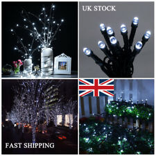 White 400 LEDs Twinkle Fairy Lights String 8 Modes + Solar Powered Holiday Decor