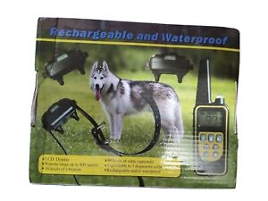 Rechargeable Waterproof Dog Training Collar. Three pack