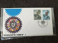 Belgium Europa CEPT Flags Wheel Pic Cancels & Cogs Stamps FDC Cover