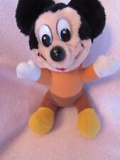 "8"" 1984 Vintage MICKEY MOUSE Christmas Carol Plush Stuffed Toy Hardee's Promo"