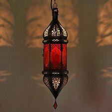 Lámpara Oriental marroquí Luz Colgante Lámpara Colgante Sultana Rojo h60cm