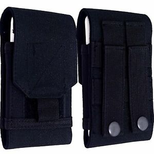 Universal Holster Belt loop Hip Case/Cover Black Pouch For Huawei Phones