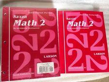 SAXON MATH 2 HOMESCHOOL STUDENT WORKBOOKS (Part 1 & 2) + Meeting Book NEW!
