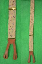 """Ferrell Reed Braces w/ Nautical Anchors, X'd Oars & Burgee Flags Print"""