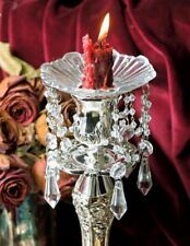 Victorian Trading Co 2 Crystal Glass Prism Chandelier Bobeches Candle Collars
