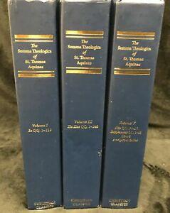 The Summa Theologica of St. Thomas Aquinas 3 Volumes HC - Christian Classics