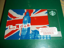 Starbucks UK City Card - LONDON PIN Intact