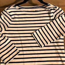 Ralph Lauren Denim & Supply blue ivory striped tunic top cotton shirt size M