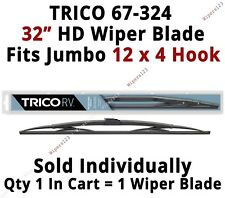 "TRICO 67-324 Wiper Blade for RV Bus Coach Commercial Truck 32"" HD 12x4 Hook Arms"