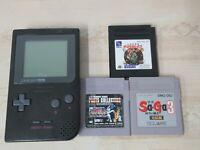 L231 Nintendo Gameboy Pocket Console Black & Game Japan GB