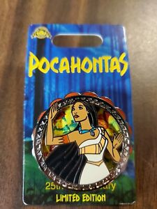 2020 Disney Pin Pocahontas Spinning Pin 25th Anniversary Limited Edition