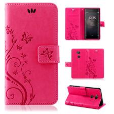 Sony Xperia XA2 Handy Tasche Handyhülle Wallet Schutz Hülle Blumen Flip Cover