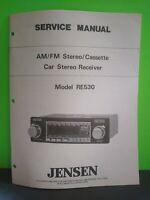 Jensen RE-530 service manual original repair book car stereo radio tape player