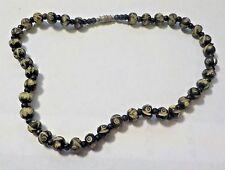 "Vintage 15 1/2"" Carved Beads Necklace"