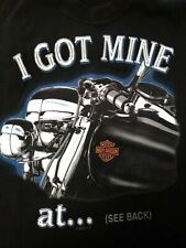 Harley-Davidson I Got Mine At...Southern Thunder Horn Lake MS Black T-shirt Sz M