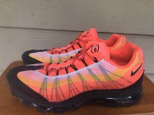 Nike Air Max 95 Dynamic Flywire Orange Black Men's Sneakers 554715-838 Size 11
