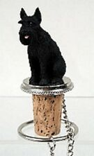 Giant Schnauzer Black Dog ~ Wine Stopper