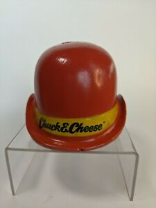 Vintage Chuck E. Cheese Red Derby Hat Coin Bank; Pizza Time Theatre