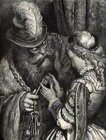 GUSTAVE DORE BLUEBEARD 1862 DORE OLD MASTER ART PAINTING PRINT POSTER 1192OM