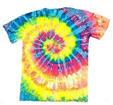 PETITE NEON RAINBOW TYE DYED TEE SHIRT unisex SIZE MED hippie tie dye NEW PET04