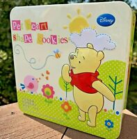 Winnie The Pooh Tin Container Pet Shape Cookie Treats Square Metal Winnie Tin