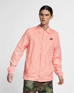 Nike MEN'S SB Shield Coaches Jacket Storm Pink/Obsidian SIZE LARGE BRAND NEW