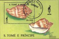 Sao Tome e príncipe Bloque 350 (edición completa) usado 1996 caracoles marinos