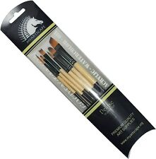 Paint Brush Set  6pc Artist Brushes for Painting Watercolour Acrylic & Oil by My